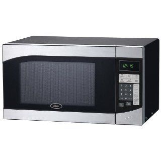 New Oster 0 9 Cubic Foot 900 Watt Stainless Steel Countertop Microwave Oven Dorm