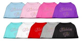 Birthday Girl Jeweled Pet Dog Shirt Variety of Colors