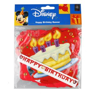Authentic Disney Mickey Mouse Happy Birthday Cake Banner Child Party Supplies
