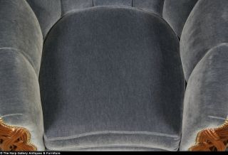 Art Deco 1935 Club Chair New Genuine Mohair Upholstery
