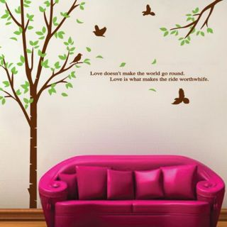 Love Tree and Birds Wall Sticker Decal