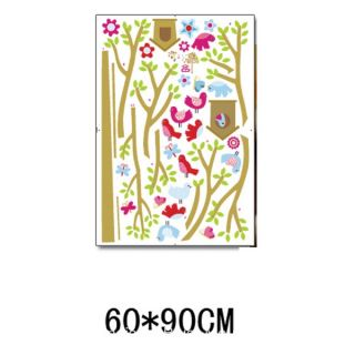 Garden Tree Bird House Wall Sticker Decal