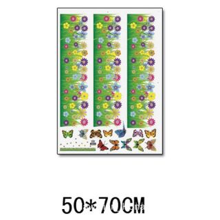 Flower Grass Garden Butterflies Wall Sticker Decal