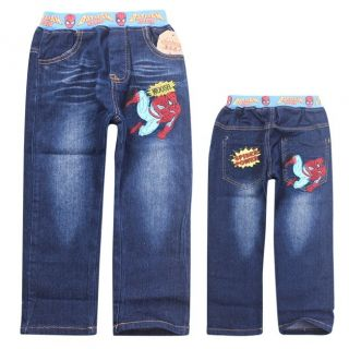 Spiderman Toddlers Kids Boys Girls Funny Jeans Aged 3 9 Years