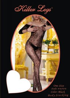 Black Fishnet Body Stockings Sexy Designs Open Crotch Thigh High Leopard Dress