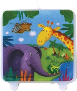 Jungle Buddies Animal Party Supplies Ideas Favors Printed Birthday Cake Candle