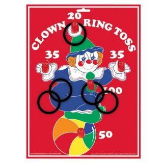 Circus Clown Ring Toss Party Game Kids Carnival Birthday Supplies Themes Ideas