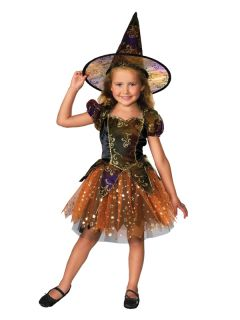 Elegant Witch Fancy Dress Costume Halloween Child Kids Girls Female 1 7 Years BN