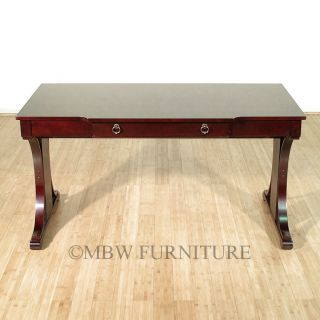 5ft Wide Cherry Art Deco Office Computer Desk Table w Drawer 800493