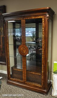 Hurtado Wood and Glass Display Cabinet with Drawers