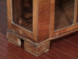 Antique English Walnut Art Deco Curio Display Cabinet c1940's P106A