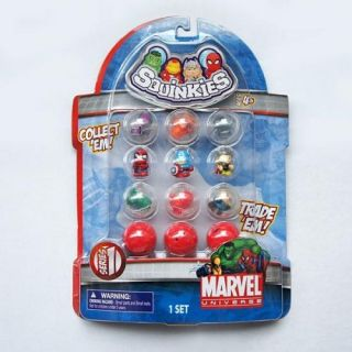 5 Squinkies Marvel Super Hero Spiderman Hulk Thor Iron Man Figure S1 2 3 4 5 Set