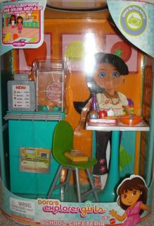 Dora Links Explorer Girls Playset School Cafeteria New