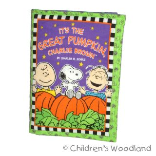 Peanuts Halloween Cloth Soft Book Kid Baby Great Pumpkin Snoopy Charlie Brown