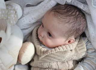Reborn Baby Boy Doll Chanel Sculpted by Donna RuBert Little Sushine Nursery