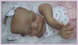 "♥ Heather by Donna RuBert 21"" Pretty Reborn Fake Baby Girl Doll ♥"