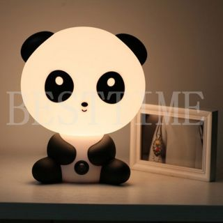 New Cartoon Big Panda Bear Baby Room Bear Cartoon Night Sleeping Light Lamp