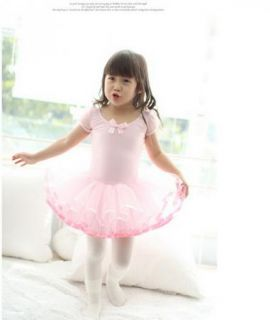 Girl Birthday Party Leotard Ballet Tutu Dance Skate Skirt Dress S3 8Y Pinks
