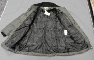 New with Tags Michael Kors Women Down Jacket Winter Coat Gray Silver Accents XL