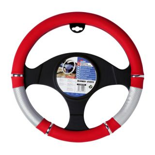 Sumex Power Red Steering Wheel Cover 37 39cm Race Driving Glove Accessory