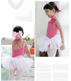 Girl Birthday Party Leotard Ballet Tutu Dance Skate Skirt Dress S3 8Y Dress