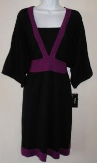 $79 Style Co Plus Womens Black Purple Sweater Dress 0X 1x 2X 3X