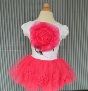 Girls Kids Pettiskirt Tutu Skirt 2 8Y Baby Party Dress Flower Pettidress Clothes