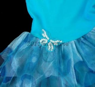 Girls Leotard Costume Ballet Tutu Dancewear Party Dress