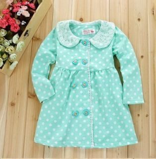 Girl Kids Dress Top Skirt Toddler Long Sleeve 1 6Y Baby Party Clothes Lovely Dot