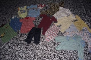 Lot Baby Boy Clothes 6 9 mos Carter's Small Wonders Okie Dokie Calvin Klein