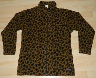 Womens Kerrits Leopard Print Full Zip Fleece Riding Jacket Sz Small