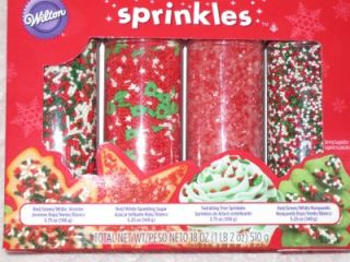 Wilton Holiday Christmas Sprinkles Set Cookie Topper