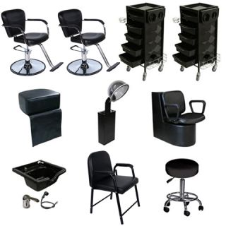 Salon Station Styling Chair Shampoo Bowl Dryer Trolley Package DP 100E