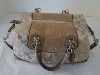 Coach Ashley Signature Embossed Exotic Satchel Shoulder Bag 17192 MFSRP $358
