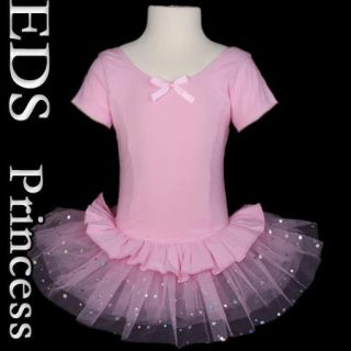E704 12 Girls Ballet Tutu Dance Dress Pink 3T 4T