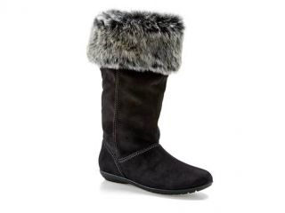 New Womens Jrs Susie Report Faux Fur Suede Knee Black Gray Winter Boots 6 5 7