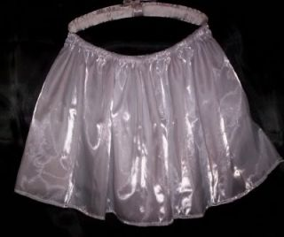 Adult Sissy Womens Mens TV CD Sexy Silvery White Glitter Knit Mini Skirt Flirty