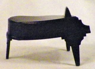Ideal Dollhouse Miniature Baby Grand Piano Plastic Furniture Warped as Is Cond