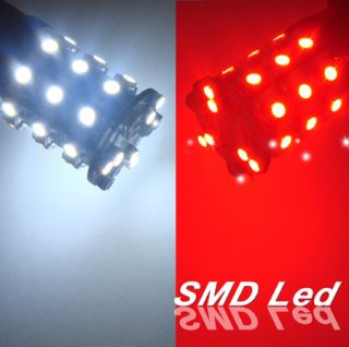 White Red Switchback Dual Color 3157 SMD LED Light Bulb