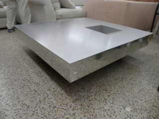Pierre Cardin 1970's Chrome Coffee Cocktail Table with Dry Bar or Jardinier