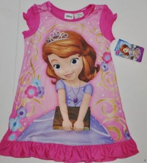 Toddler Girls Disney Princess Sofia The First Nightgown Size 2T 3T 4T 5T Pajamas