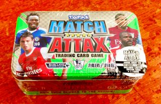 Topps Match Attax 2010 2011 Season Trading Card Game Collectors Tin New