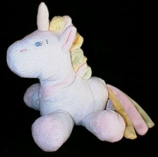 Baby Ganz Soft Plush Unicorn Rattle Toy