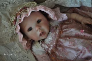 Berry Pie French Lace Dress Hat Blanket 4 Reborn Baby Doll