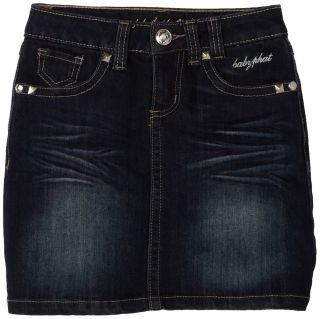 $48 Baby Phat Kids Girls Bling Denim Skirt Dark Wash 10