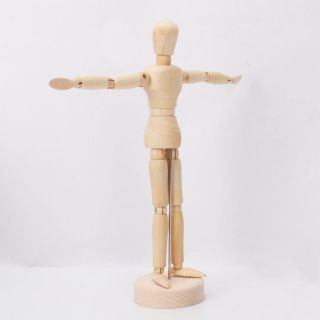 "Art Class Wooden Figure 8"" Male Manikin Mannequin for Table Display Painting"