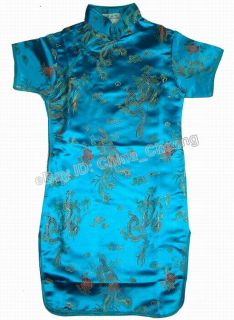 Chinese Child Girl Kid Baby Dragon Phoenix Cheongsam Dress Qipao