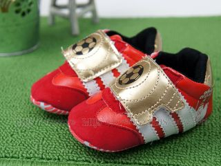New Toddler Baby Boy Red Football Sneakers Shoes US Size 2 3 4 A1062