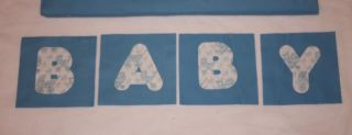 "Blue Baby Carriage Minky Rag Quilt Kit 84 6"" Square DIY"