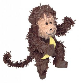 Monkey Pinata Jungle Safari Animal Themed Party Games Supplies
